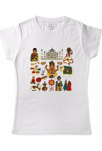 Art T-Shirt İndia Figure Kadın T-Shirt