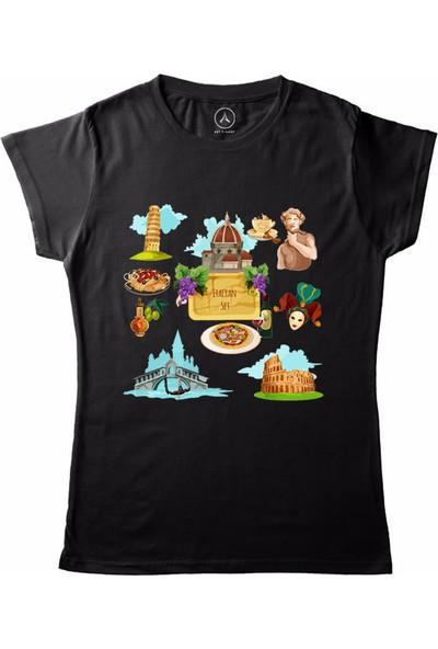 Art T-Shirt İtalian Set Kadın T-Shirt