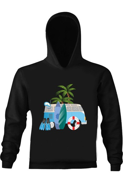 Art T-Shirt Summer Holiday Kapüşonlu Çocuk Sweatshirt