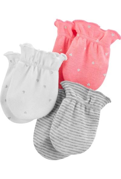 Carter's Layette Kız Bebek 3'lü Eldiven 16662410