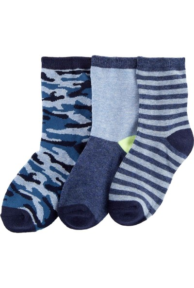 Carter's Erkek Çocuk 3'lü Çorap Cr04645