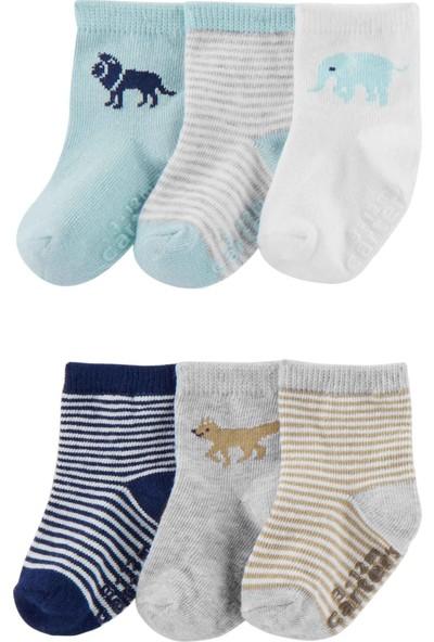 Carter's Erkek Bebek 6'lı Çorap Cr04708