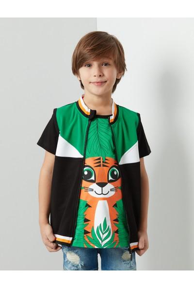 Denokids Tiger Yelek+T-shirt