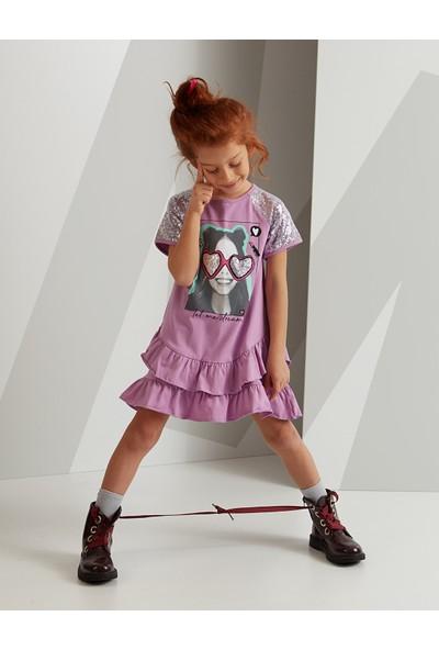 Mushi Trendy Girl Pullu Elbise