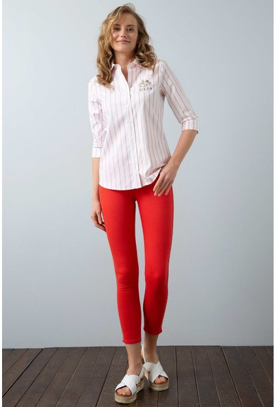 U.S. Polo Assn. Kadın Dokuma Gömlek 50199615-Vr023
