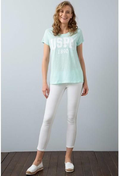 U.S. Polo Assn. Kadın T-Shirt 50204160-Vr083