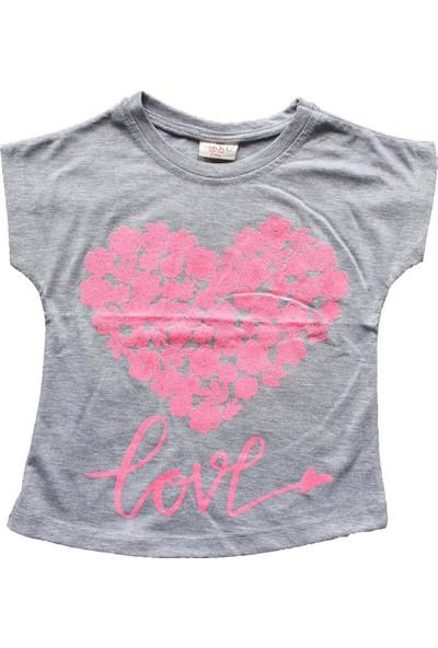Biricik's Kabartma Love Baskılı Kız Çocuk Tshirt