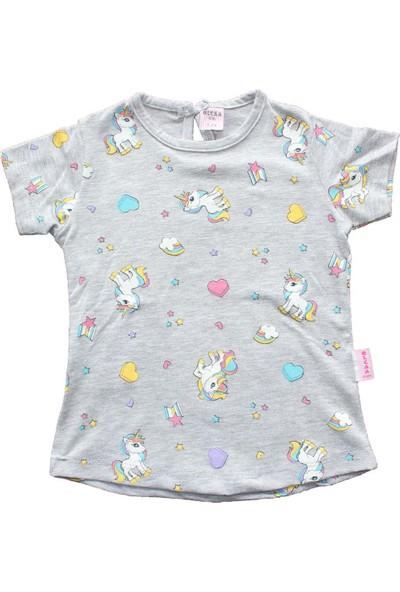 Biricik's Unicorn Baskılı Kız Çocuk Tshirt