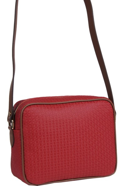 U.S Polo Assn. Kadın Çapraz Askılı Çanta Kırmızı Taba US19220