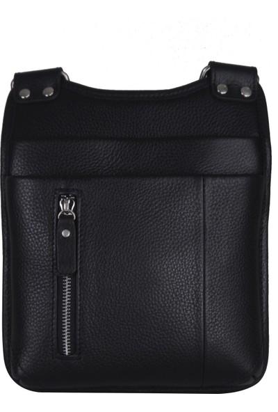 Noble Çapraz Askılı Erkek Deri Çanta Siyah 870