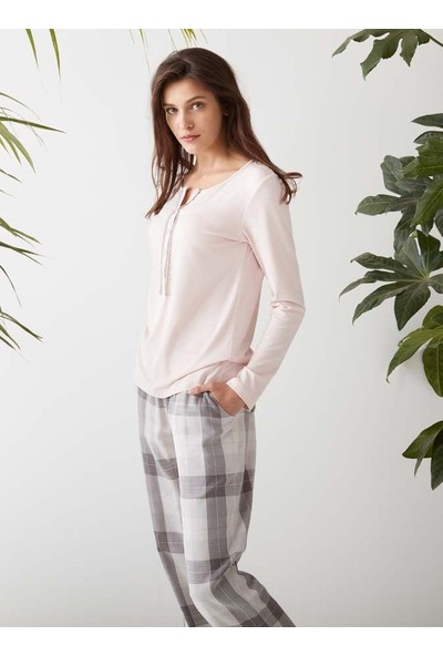 Catherine's 1405 Kadın Uzun Kol Pijama Takımı