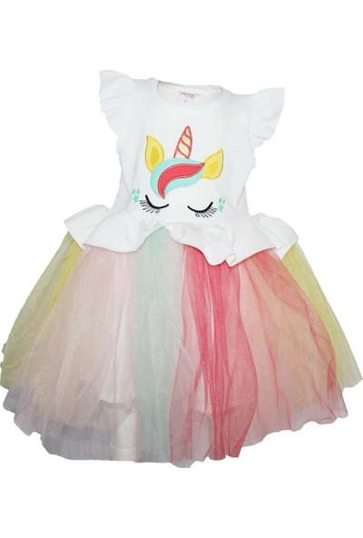 Biricik's Unicorn Tütülü Kız Çocuk Elbise