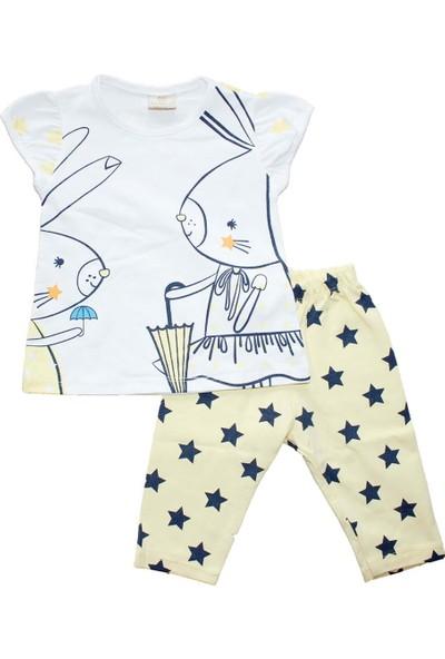Biricik's Tavşan Yıldızlı 2'li Kız Çocuk Taytlı Takım