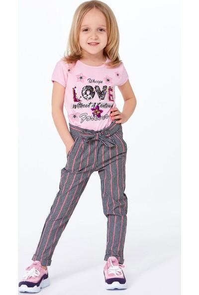 FullaModa Kız Çocuk Kuşaklı Pantolon