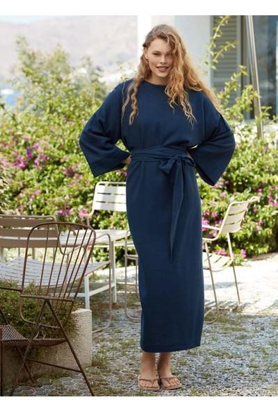 Penye Mood 8511 Kadın Uzun Elbise