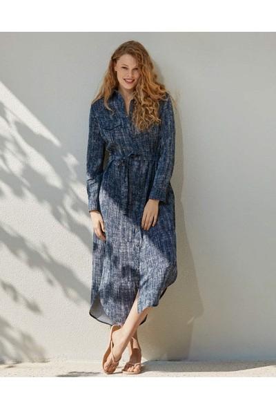Penye Mood 8517 Kadın Uzun Kol Elbise