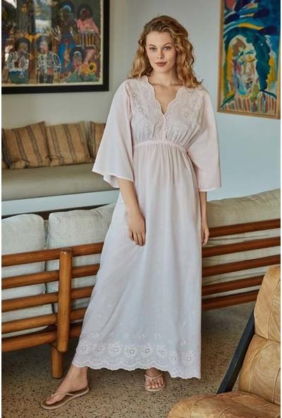 Penye Mood 8522 Kadın Uzun Fakir Kol Elbise