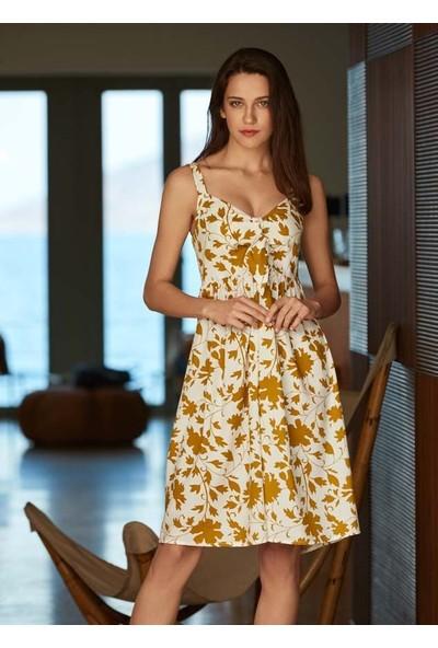 Penye Mood 8526 Kadın İp Askılı Elbise