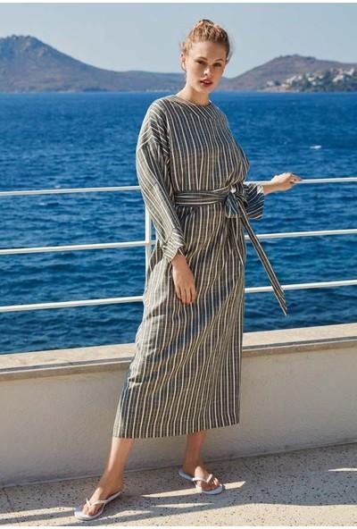 Penye Mood 8530 Kadın Uzun Kol Elbise