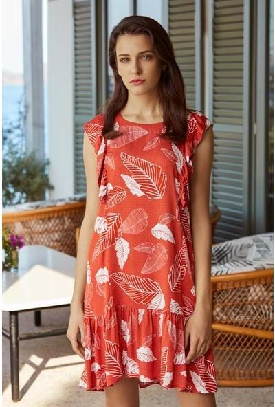 Penye Mood 8533 Kadın Sıfır Kol Elbise