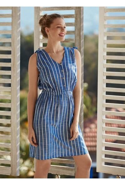Penye Mood 8536 Kadın İp Askılı Elbise