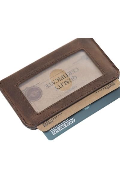 Bouletta Minima Deri Çekmeli RFID Özellikli Kartlık-G2