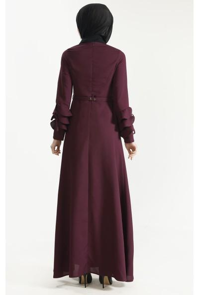 Sitare Kolu Fırfırlı Elbise 19Y5190
