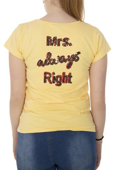 Toontoy Kız Çocuk T-Shirt Kalp Nakışlı