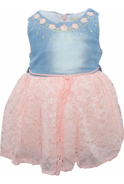 Biricik's Çiçekli Fistolu Kız Çocuk Elbise