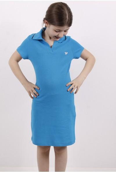 Toontoy Kız Çocuk Elbise Polo Yaka