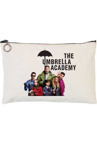 Art T-Shirt The Umbrella Academy Astarlı Bez Tablet Ve Makyaj Çantası