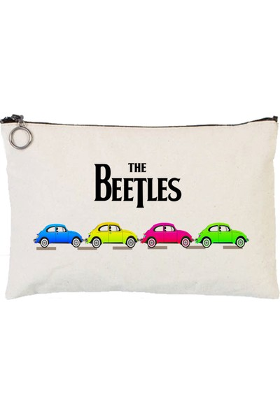 Art T-Shirt The Beetles Astarlı Bez Tablet Ve Makyaj Çantası