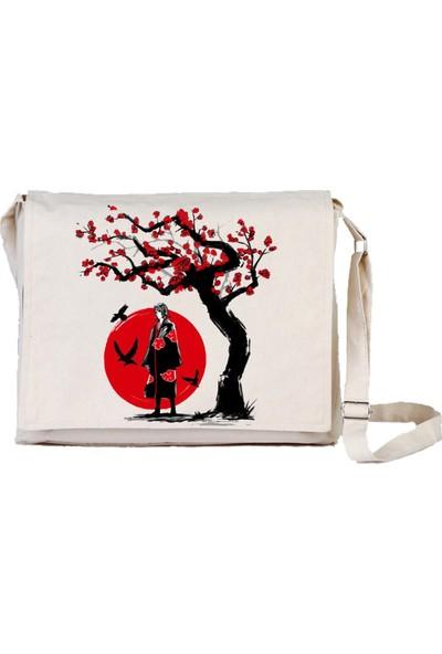 Art T-Shirt Ninja Sakura Bez Postacı Çantası