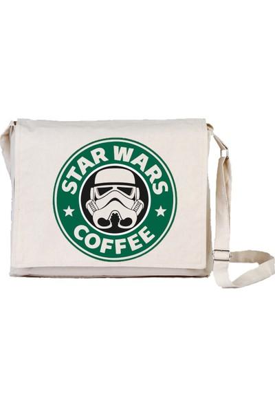 Art T-Shirt Star Wars Coffee Bez Postacı Çantası