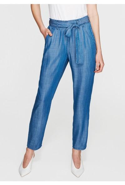 Mavi Kadın Beli Lastikli İndigo Pantolon