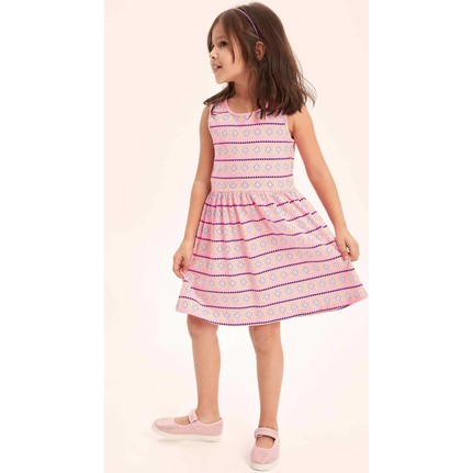 54bc438dc8272 Defacto Kız Çocuk Etnik Desenli Elbise Fiyatı - Taksit Seçenekleri
