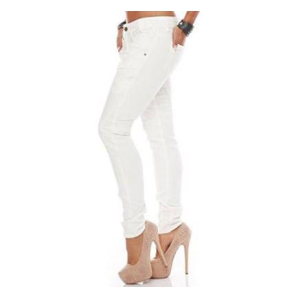 ca13601f170db Cipo&Baxx WD219 Düz Beyaz Cep Detaylı Bayan Kot Pantolon Fiyatı