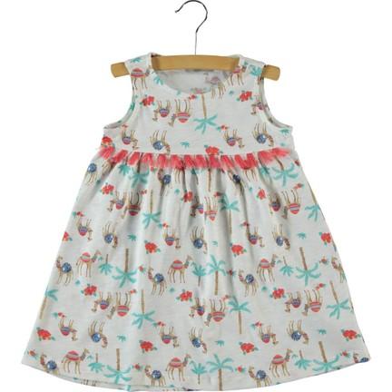 469d9fb598889 Cvl Kız Çocuk Elbise 2-5 Yaş Ekru Fiyatı - Taksit Seçenekleri