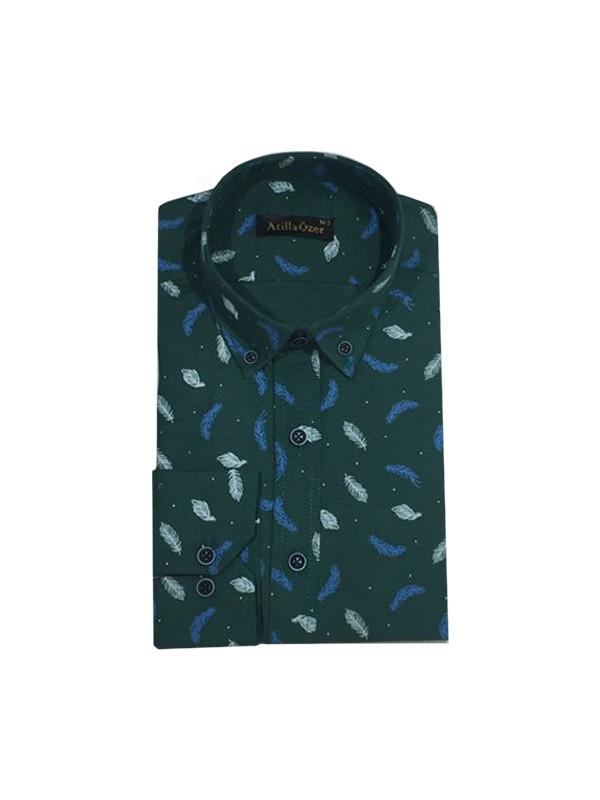 Atilla Özer 0518 Slim Fit Uzun Kol Erkek Gömlek