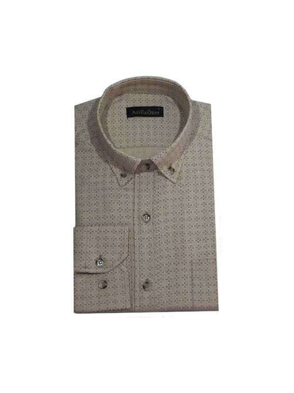 Atilla Özer 0108 Uzun Kol Klasik Erkek Gömlek