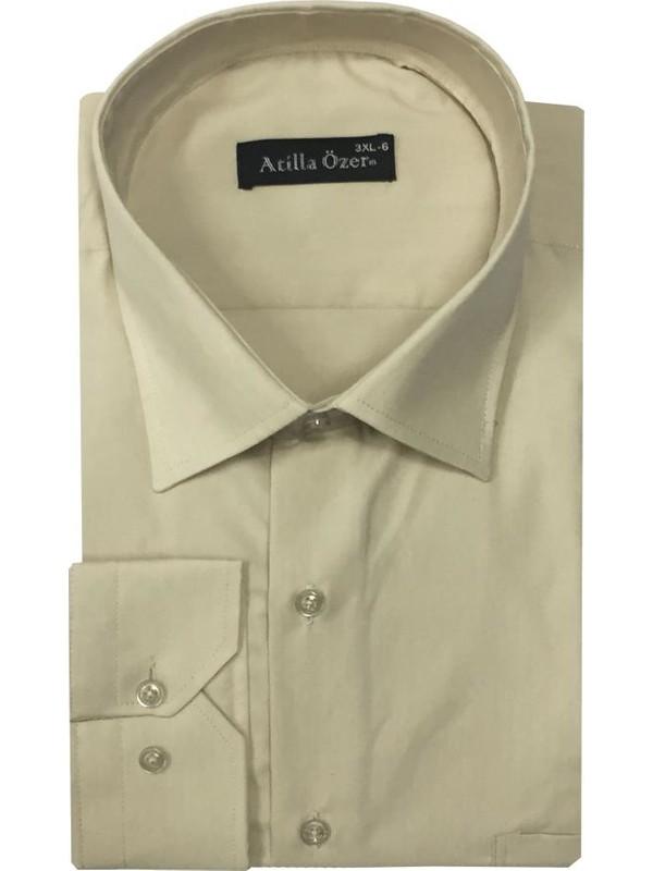 Atilla Özer Uzun Kol Klasik Battal Gömlek - 0051