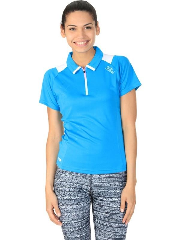 Head 814252 Tqwh Aurora Kadın Polo T-Shirt Zip Mavi