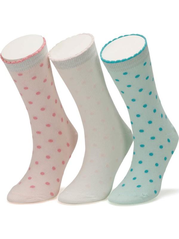I Cool Mini Puan 3 Lu Skt-G Pembe Mult Kız Çocuk Soket Çorap