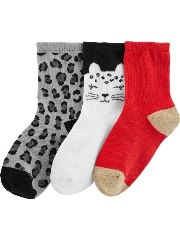 Carter's Kız Çocuk 3'lü Çorap Cr04484
