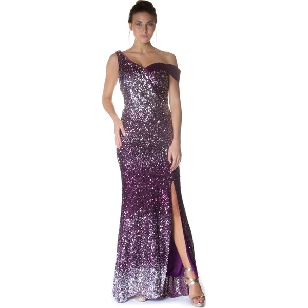 507fc5aa73af8 Pierre Cardin Mürdüm Carmen Yaka Uzun Abiye Elbise - 40 - Mor Ürün Resmi