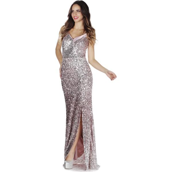 4d040af683c96 Pierre Cardin Pudra Carmen Yaka Uzun Abiye Elbise - 44 Fiyatları ...