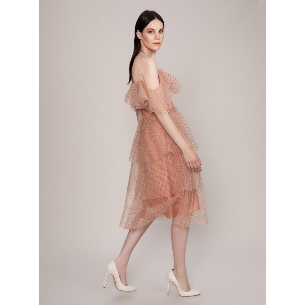 d07014f4de7fa Roman Tül Detaylı Somon Abiye Elbise Fiyatı - Taksit Seçenekleri