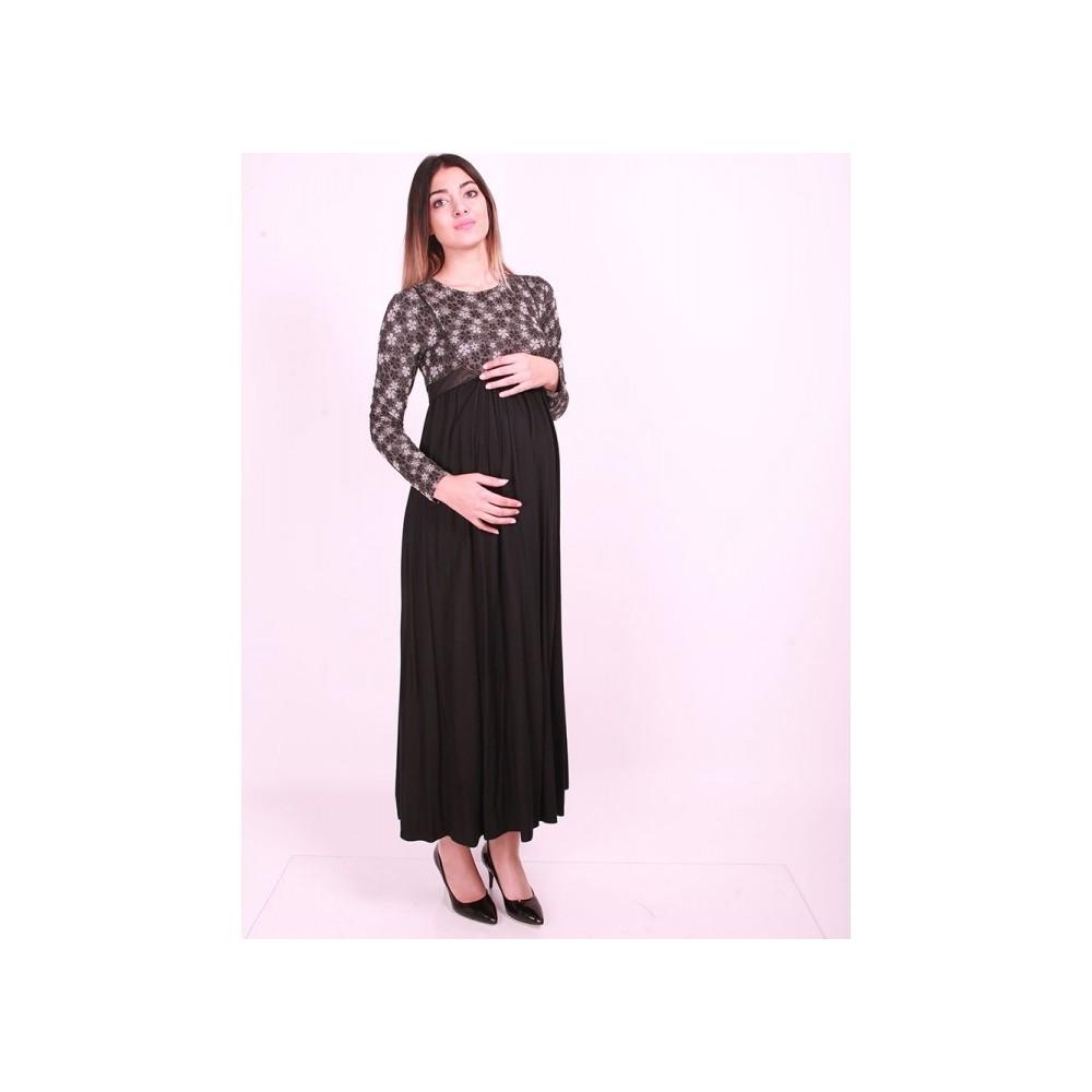9ff883f46d2af Işşıl Hamile Giyim Papatya Çiçekli Tesettür Elbise Fiyatı
