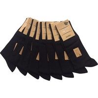 Emre 10 Lu Siyah Ince Yazlık Bambu Erkek Çorap Dikişsiz