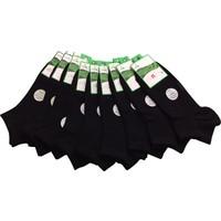 Dündar 9 Lu Siyah Bambu Patik Çorap